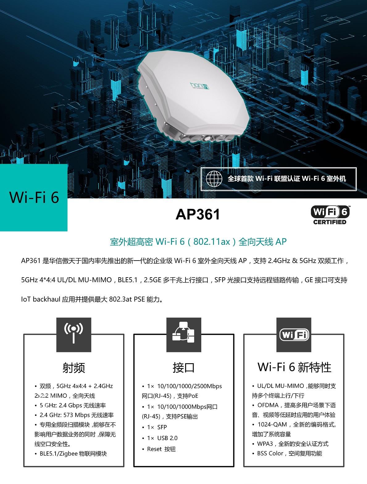 AP361 | 华信傲天WIFI6接入点(图1)